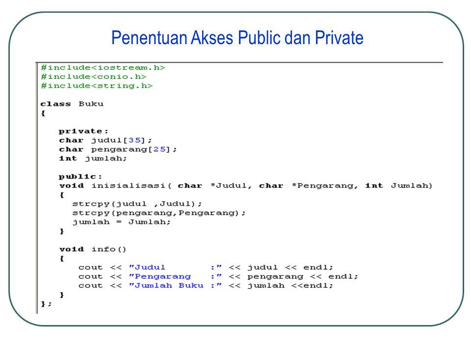 Penentuan Akses Public dan Private