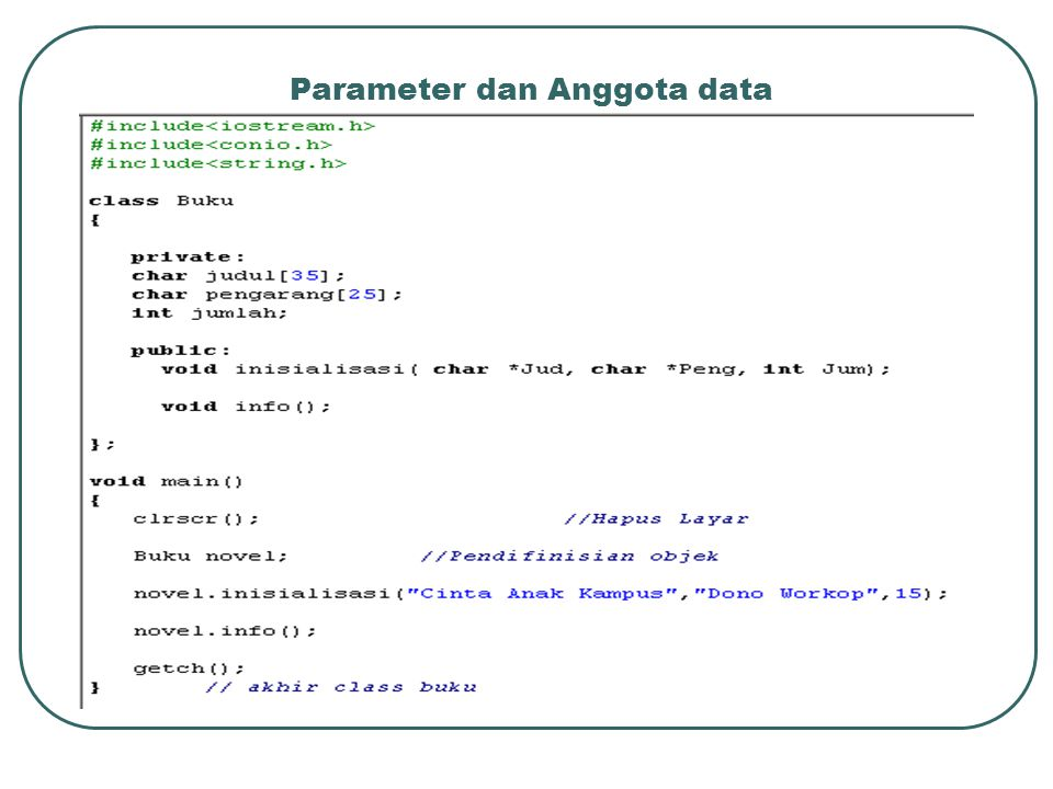 Parameter dan Anggota data