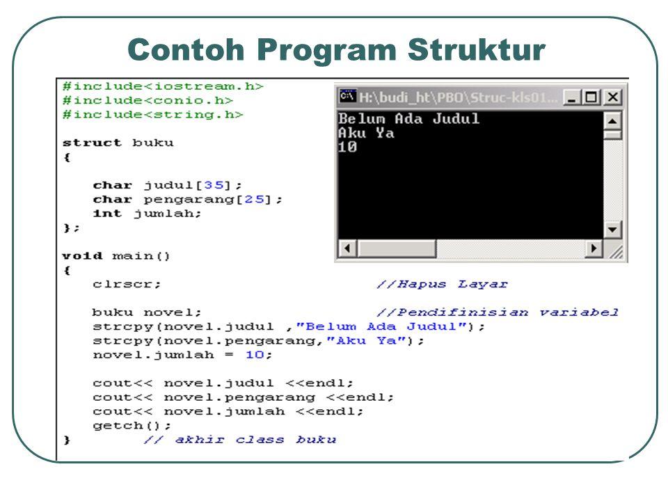 Contoh Program Struktur