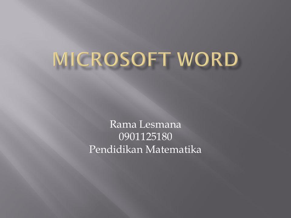 Rama Lesmana 0901125180 Pendidikan Matematika