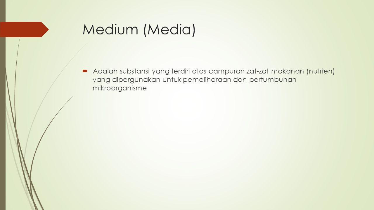Klasifikasi Medium  1.