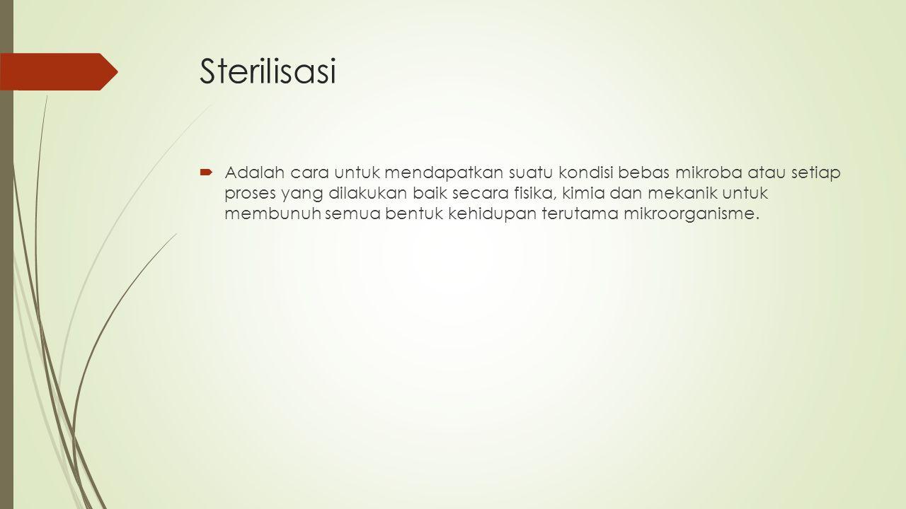 Metode Sterilisasi  1.