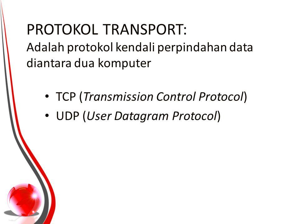 Karakter UDP Connectionless Unreliable UDP menyediakan mekanisme untuk mengirim pesan- pesan ke sebuah protokol lapisan aplikasi atau proses tertentu di dalam sebuah host dalam jaringan yang menggunakan TCP/IP.