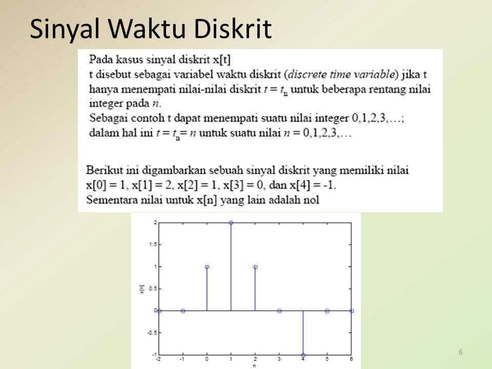 Kelompok pertama : Jika C dan  besaran riil, maka sinyal tersebut disebut eksponensial riil, dan sinyal tersebut memiliki dua tipe perilaku.