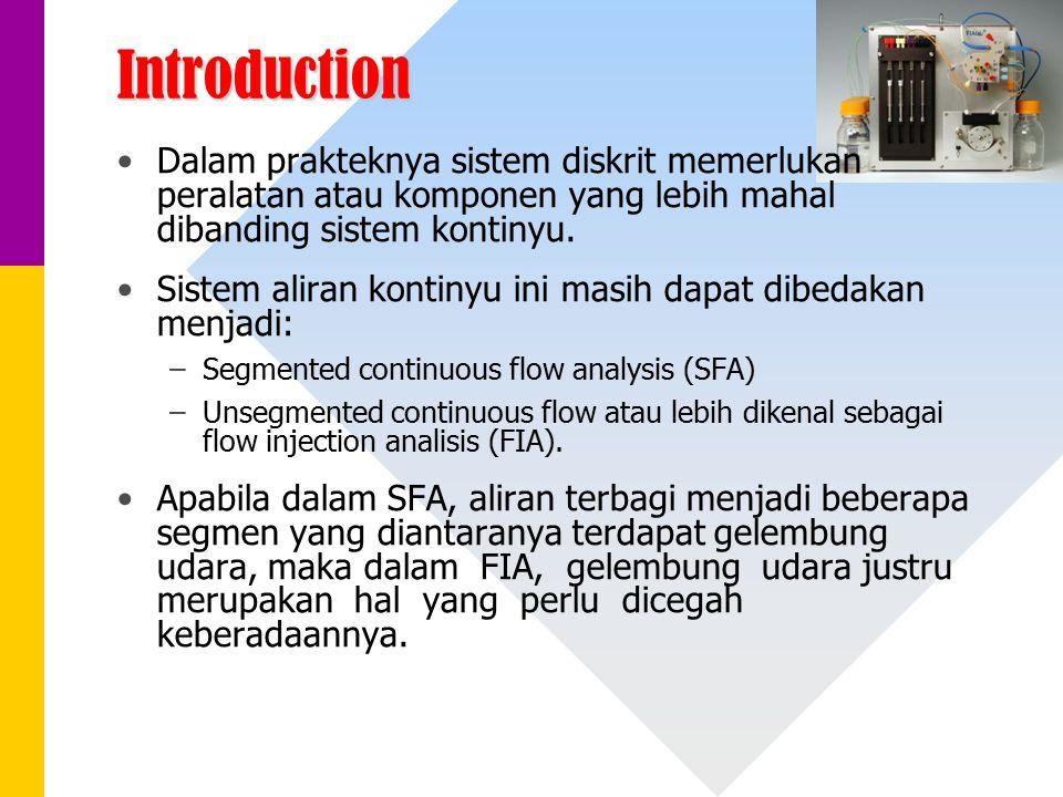 Introduction Dalam prakteknya sistem diskrit memerlukan peralatan atau komponen yang lebih mahal dibanding sistem kontinyu. Sistem aliran kontinyu ini