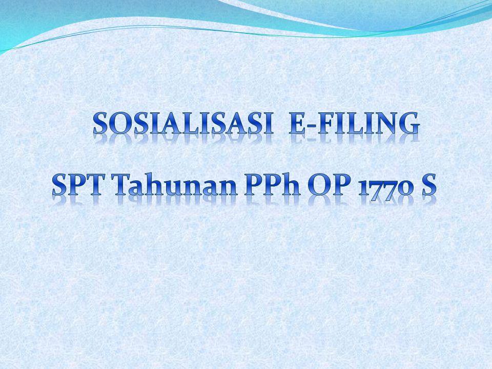 #1 Meminta EFIN #2 Registrasi #3 Aktivasi #4 Buat SPT online #5 Meminta Kode Verifikasi #6 Mengirim SPT Yang sudah memiliki akun e-filing, HANYA langkah #4 s.d #6