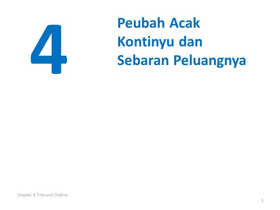 Chapter 4 Title and Outline 1 4 Peubah Acak Kontinyu dan Sebaran Peluangnya