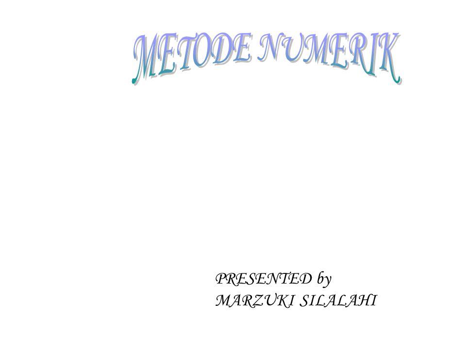 PRESENTED by MARZUKI SILALAHI