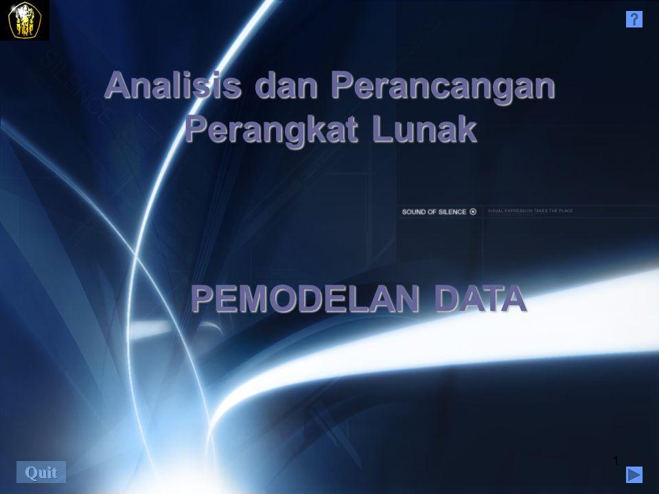 1 Analisis dan Perancangan Perangkat Lunak PEMODELAN DATA