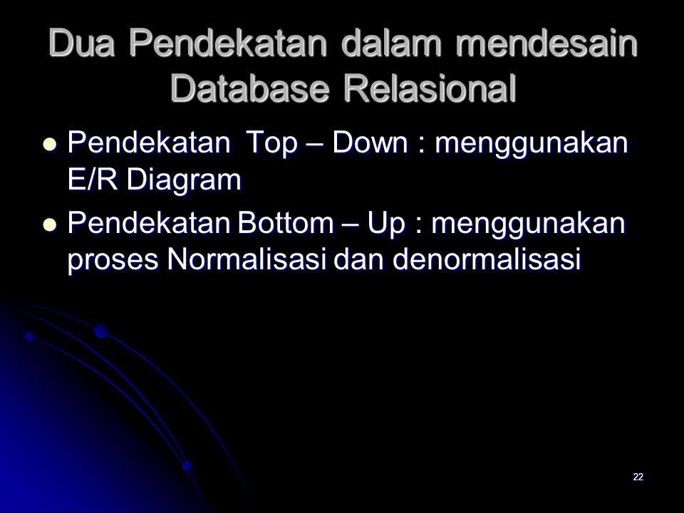 21 2. Normalisasi dan Denormalisasi Data