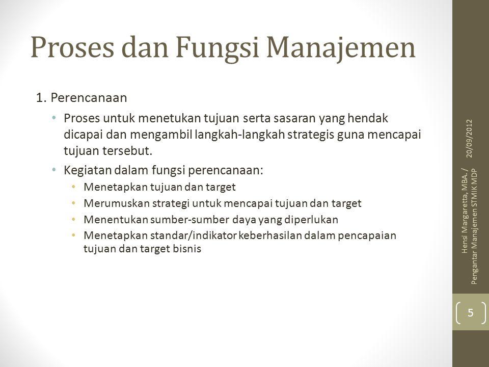Proses dan Fungsi Manajemen 1.