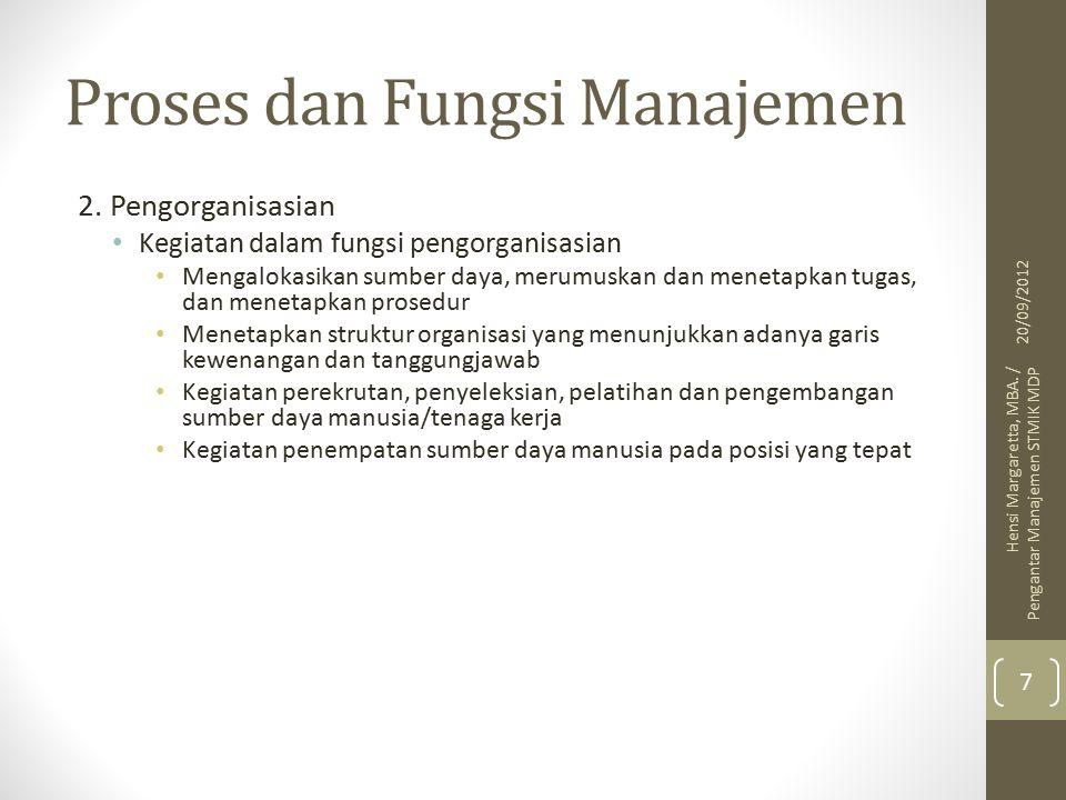 Proses dan Fungsi Manajemen 2.
