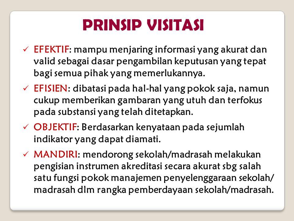 EFEKTIF: mampu menjaring informasi yang akurat dan valid sebagai dasar pengambilan keputusan yang tepat bagi semua pihak yang memerlukannya.