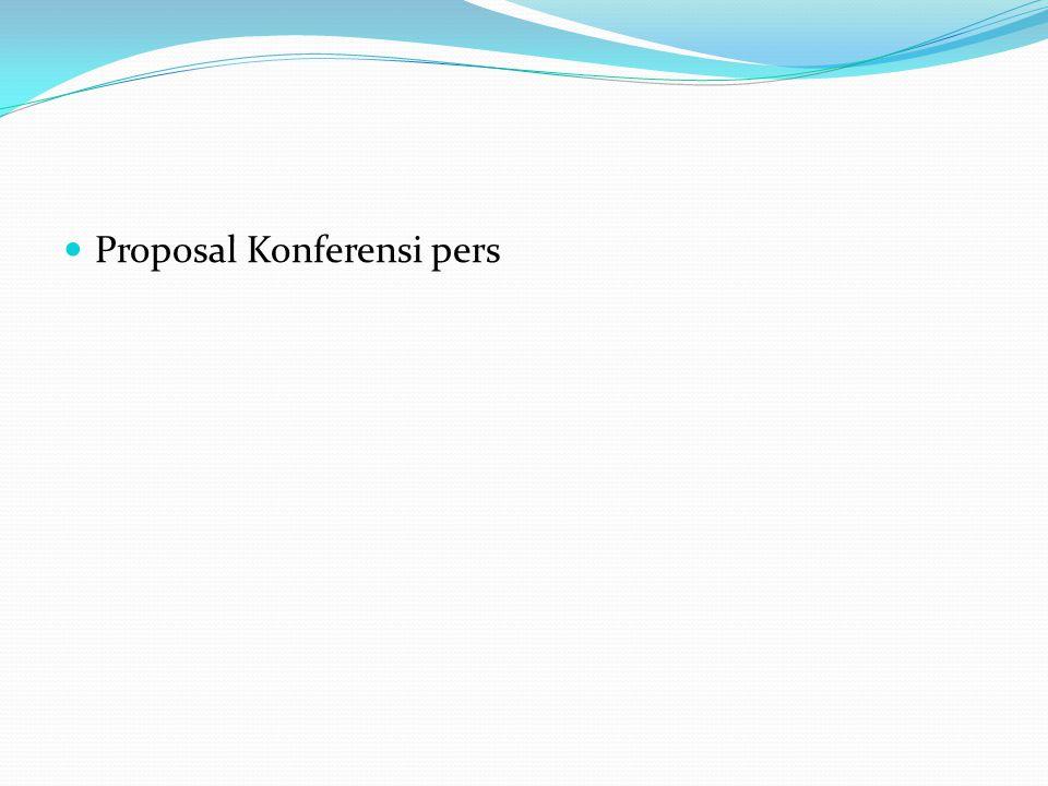 Proposal Konferensi pers