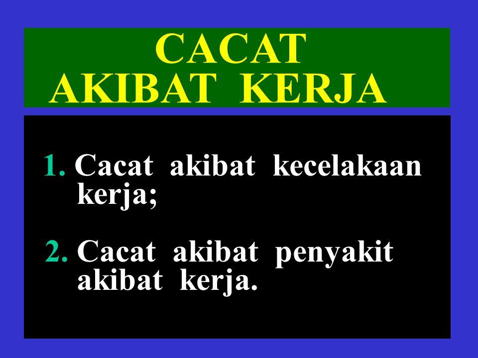 10 CACAT TETAP TOTAL sama=dengan CACAT TOTAL UNTUK SELAMA- LAMANYA