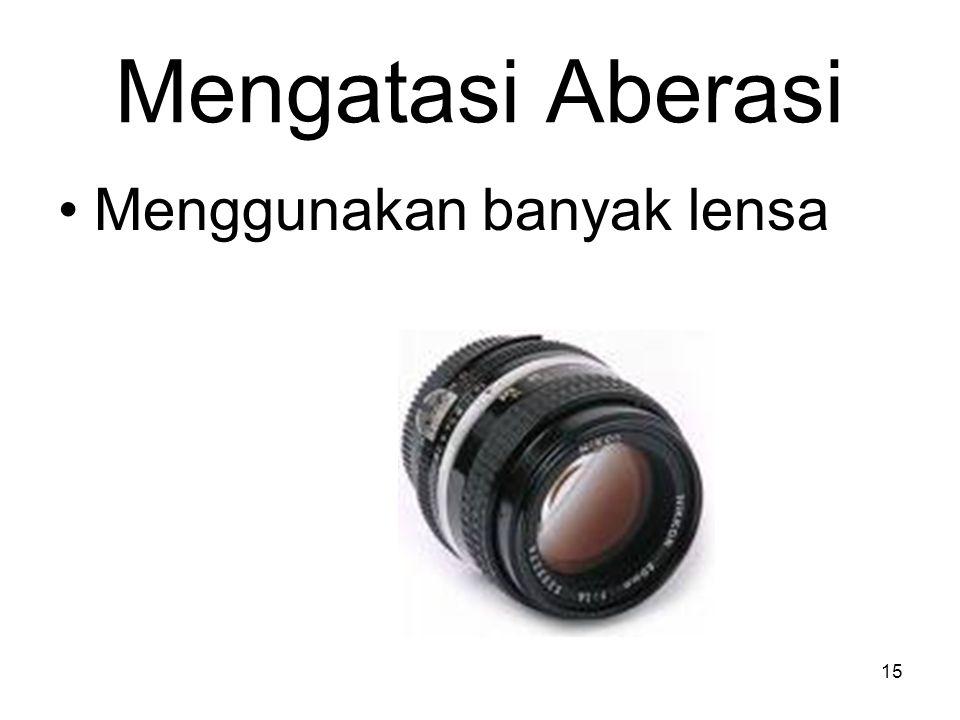 Mengatasi Aberasi Menggunakan banyak lensa 15