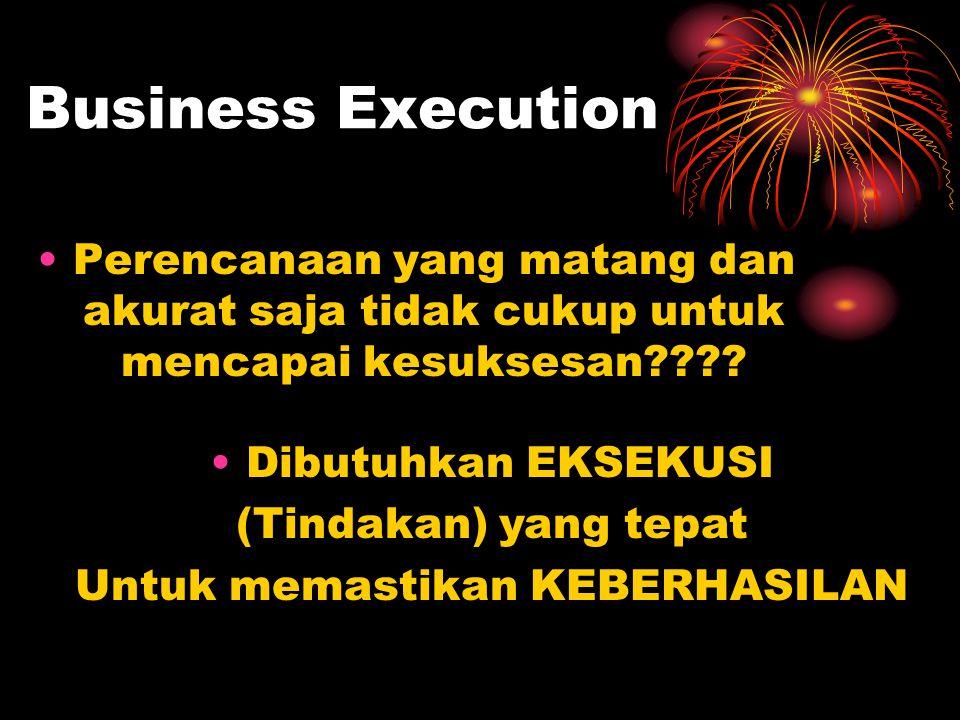 Business Execution Perencanaan yang matang dan akurat saja tidak cukup untuk mencapai kesuksesan???.