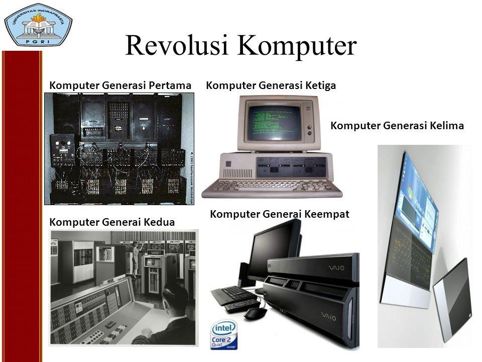 Revolusi Komputer Komputer Generasi Pertama Komputer Generai Kedua Komputer Generasi Ketiga Komputer Generai Keempat Komputer Generasi Kelima