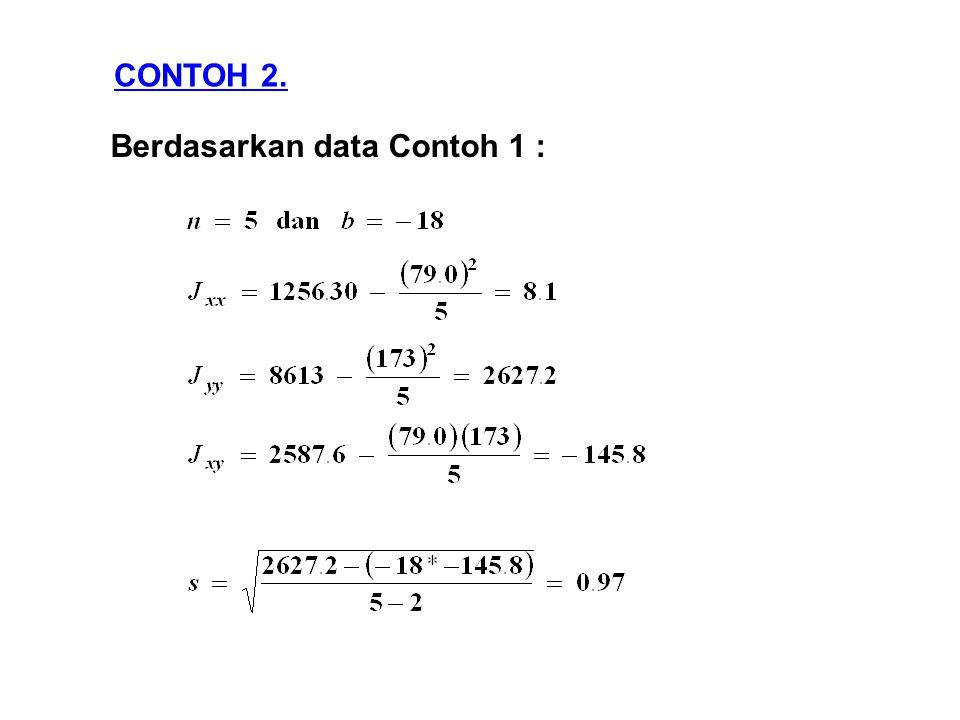 Berdasarkan data Contoh 1 : CONTOH 2.