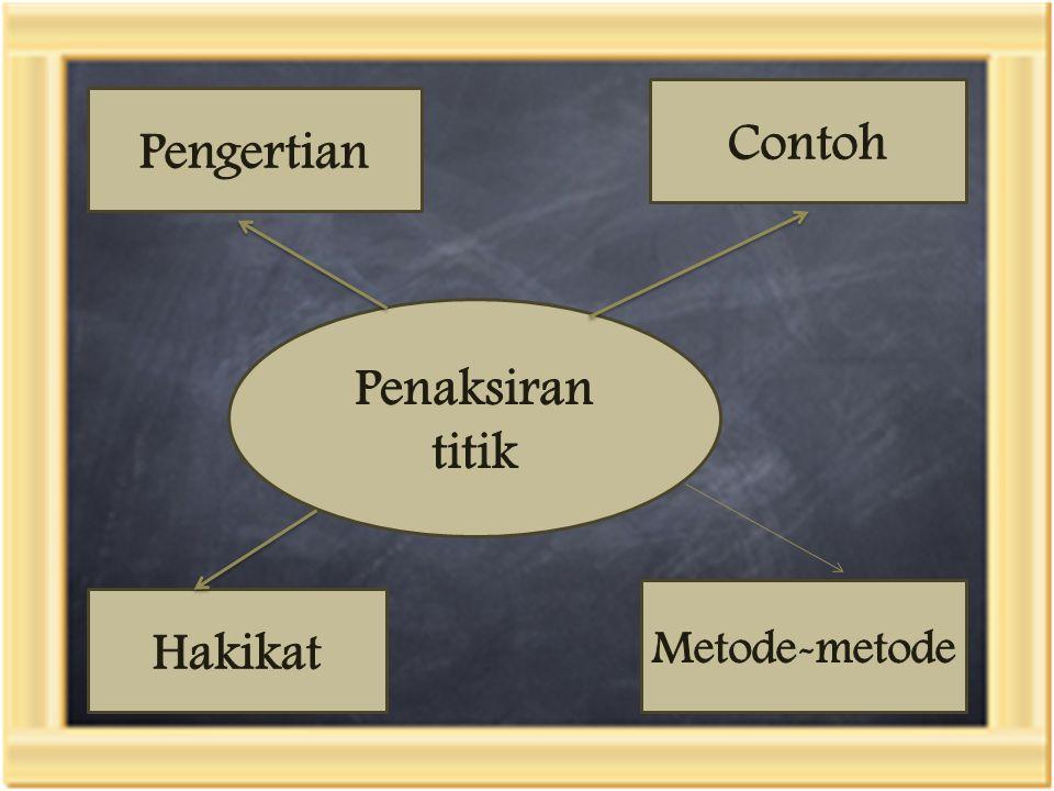 Metode-metode Metode maksimum likelihood Metode momen