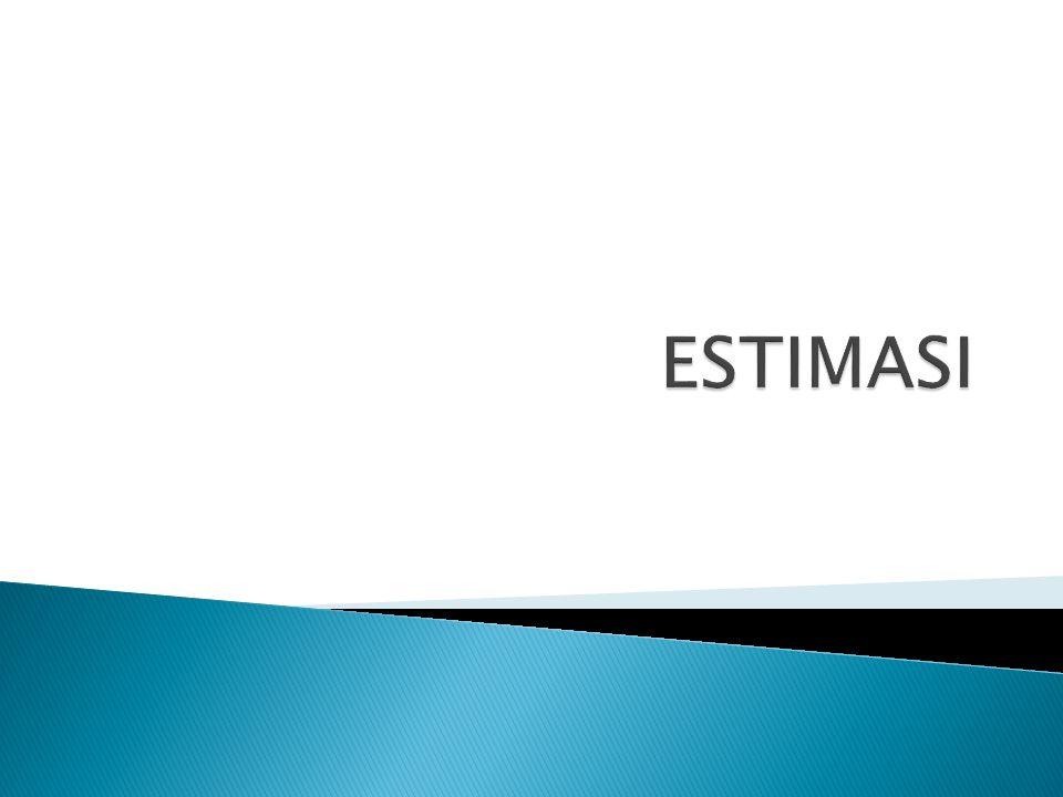  Pendugaan adalah proses yang menggunakan sampel statistik untuk menduga atau menaksir hubungan parameter populasi yang tidak diketahui.