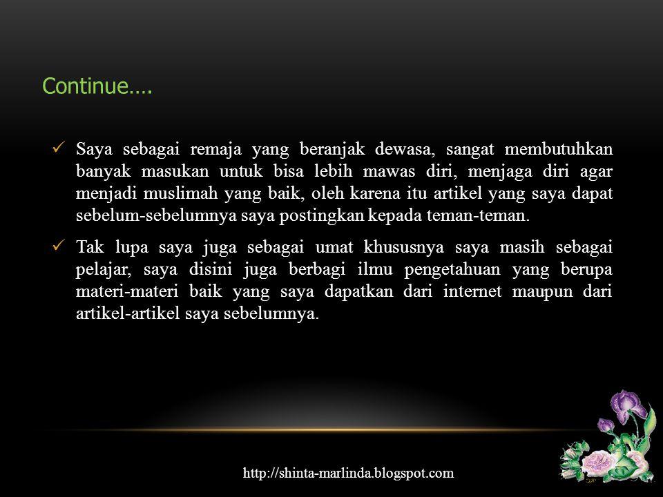 Dan ini adalah biodata saya. http://shinta-marlinda.blogspot.com