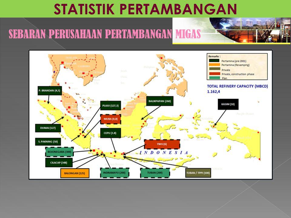 STATISTIK PERTAMBANGAN SEBARAN PERUSAHAAN PERTAMBANGAN MIGAS