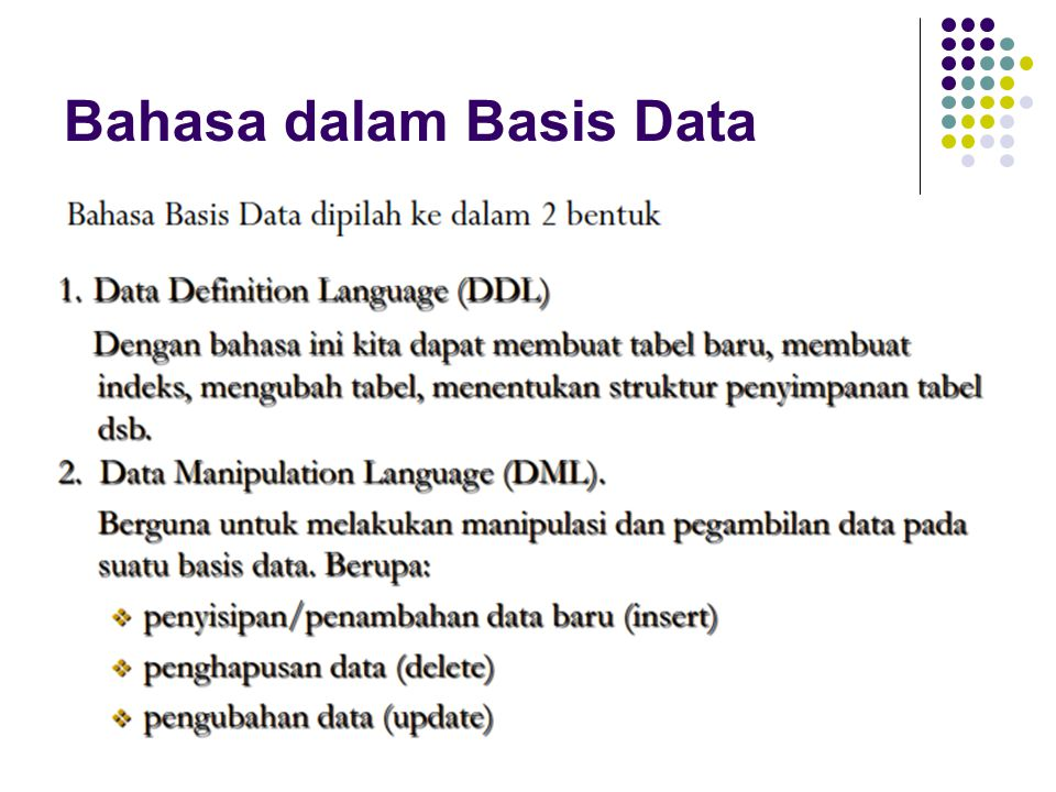 Bahasa dalam Basis Data