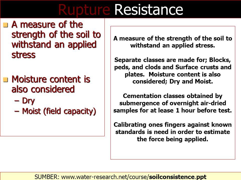KONSISTENSI TANAH SUMBER: http://environment.uwe.ac.uk/geocal/SoilMech/classification/soilclas.htm  Konsistensi bervariasi dengan kadar air tanah.
