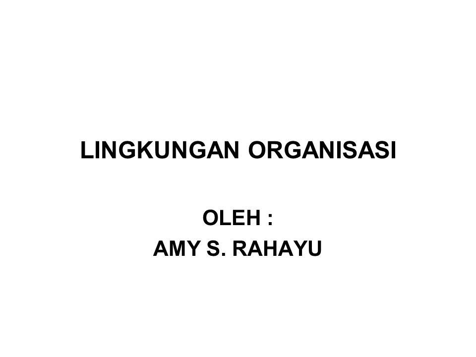 LINGKUNGAN ORGANISASI OLEH : AMY S. RAHAYU
