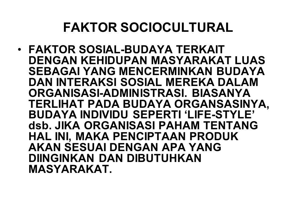 FAKTOR SOCIOCULTURAL FAKTOR SOSIAL-BUDAYA TERKAIT DENGAN KEHIDUPAN MASYARAKAT LUAS SEBAGAI YANG MENCERMINKAN BUDAYA DAN INTERAKSI SOSIAL MEREKA DALAM