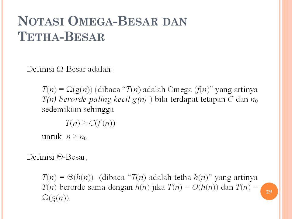 N OTASI O MEGA -B ESAR DAN T ETHA -B ESAR 29