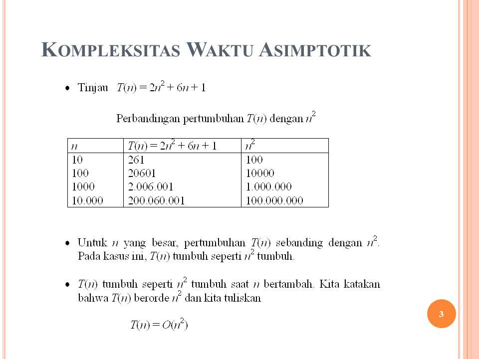K OMPLEKSITAS W AKTU A SIMPTOTIK 3