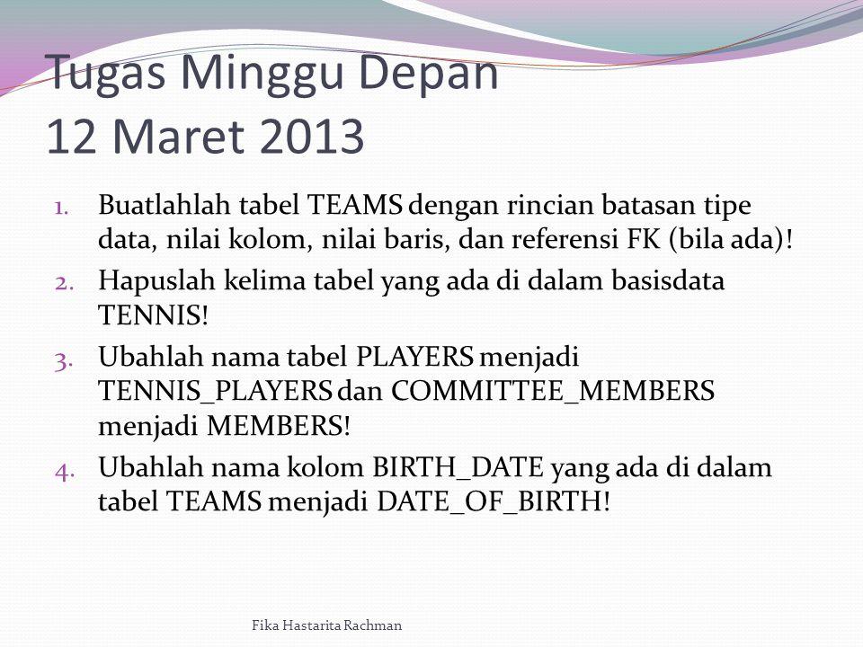 Tugas Minggu Depan 12 Maret 2013 1.