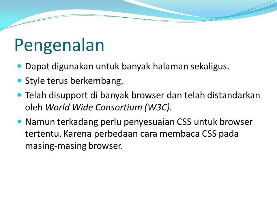 Struktur Perintah CSS terdiri atas 2 komponen, yakni Selector & Declaration.