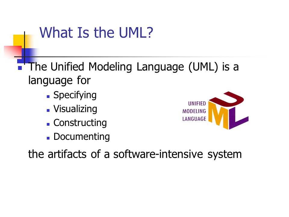 What Is the UML.