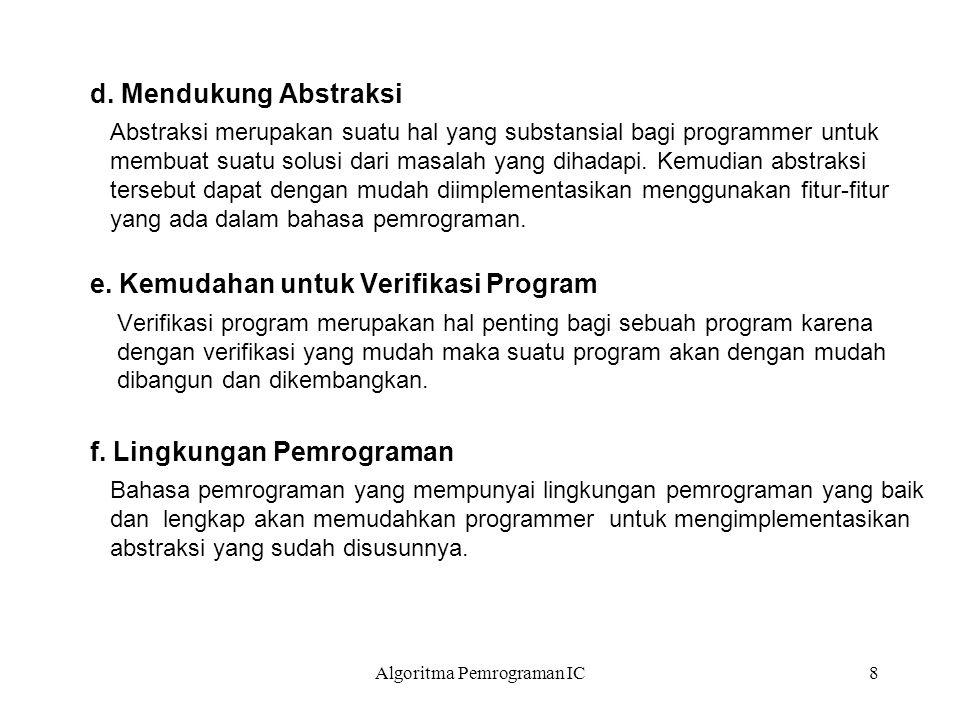 Algoritma Pemrograman IC9 g.