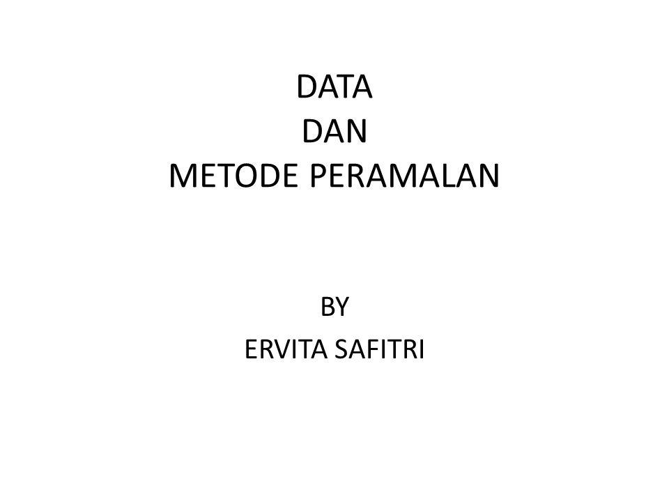 DATA DAN METODE PERAMALAN BY ERVITA SAFITRI
