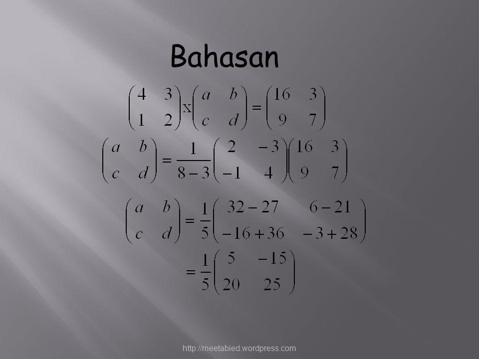 Bahasan http://meetabied.wordpress.com