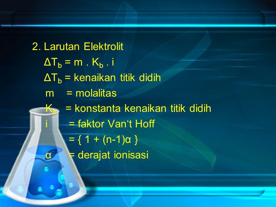 2.Larutan Elektrolit ΔT b = m. K b.