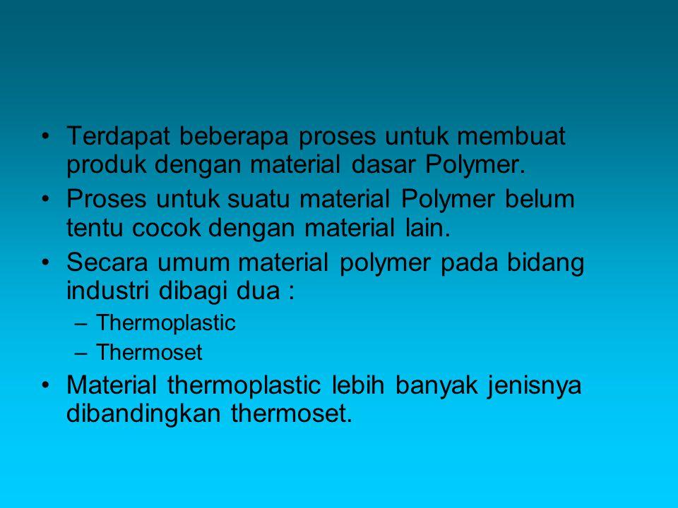 Terdapat beberapa proses untuk membuat produk dengan material dasar Polymer.