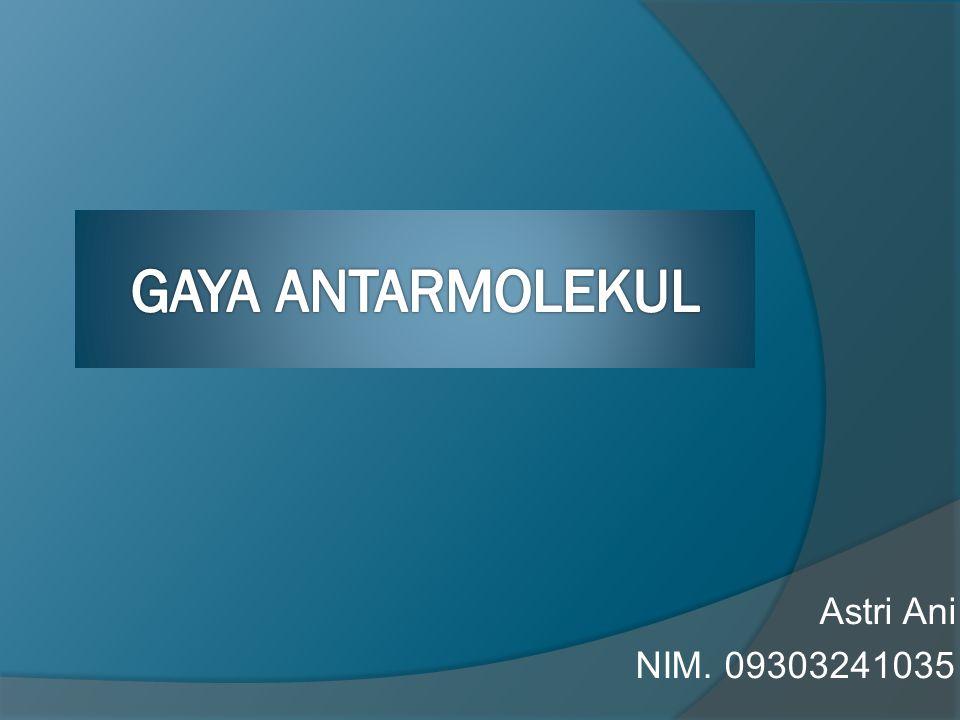 Astri Ani NIM. 09303241035