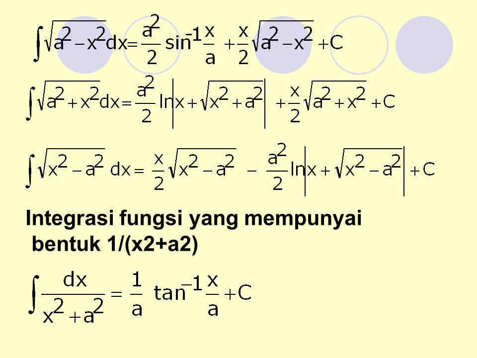 Integrasi fungsi yang mempunyai bentuk 1/(x2+a2)