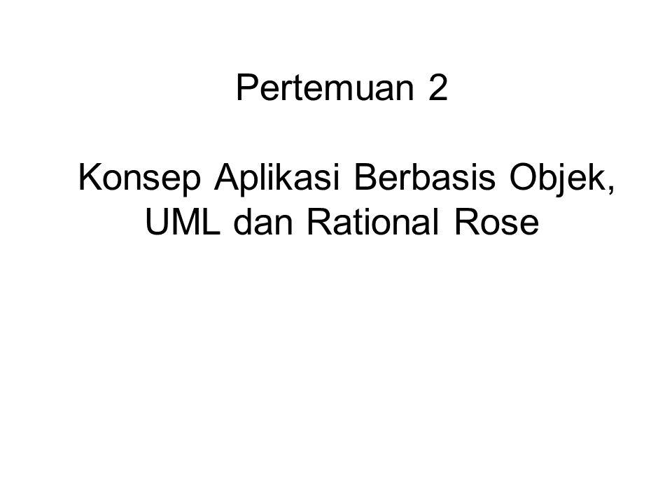 Pertemuan 2 Konsep Aplikasi Berbasis Objek, UML dan Rational Rose