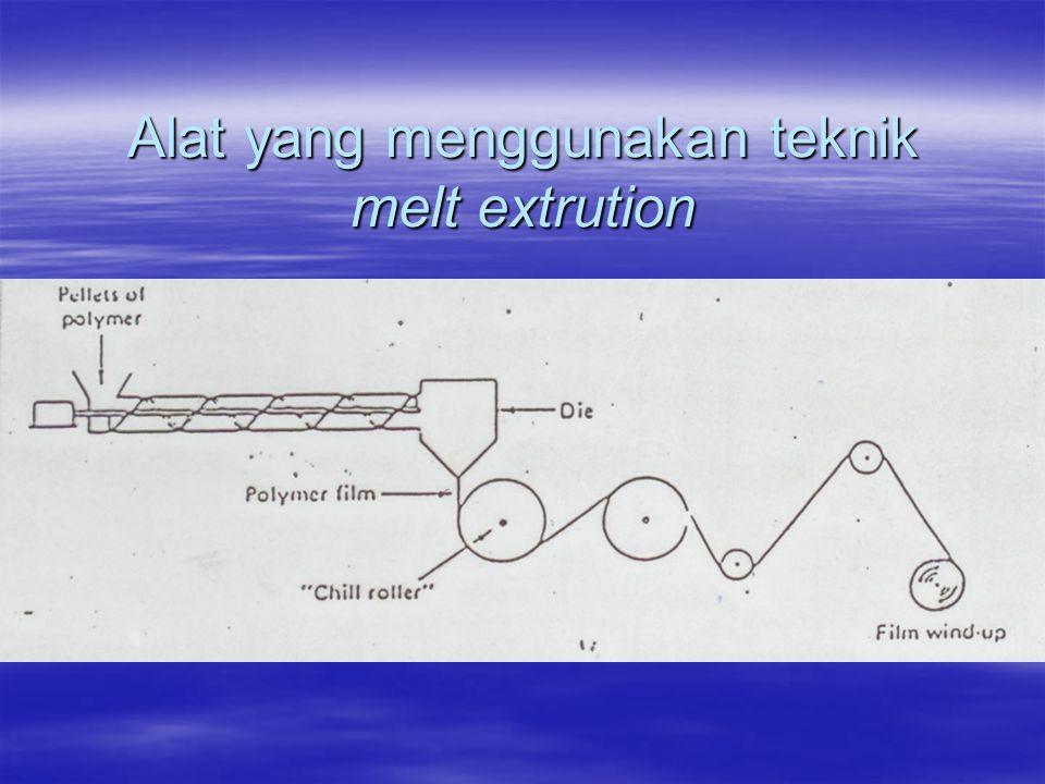 Alat yang menggunakan teknik melt extrution