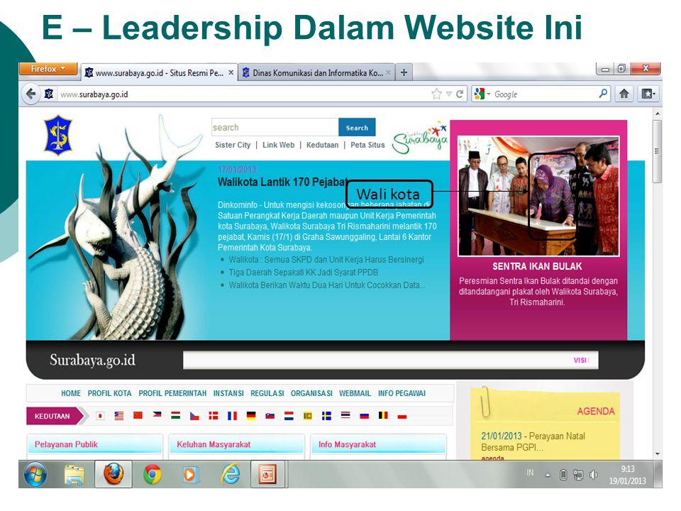 E – Leadership Dalam Website Ini Wali kota