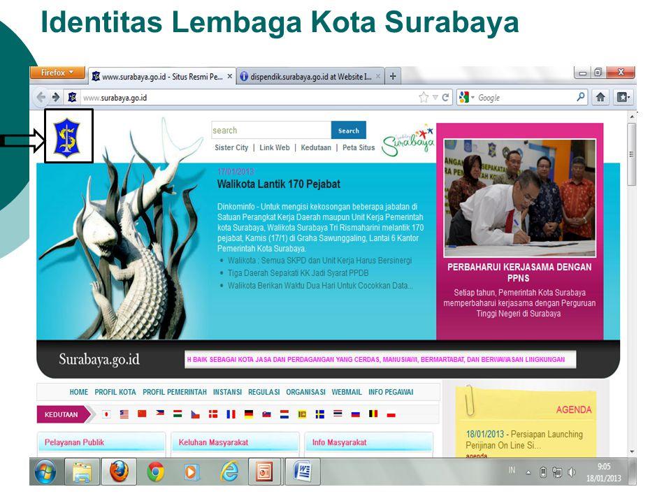 Kualitas Isi Kota Surabaya Kualitas isi di website www.surabaya.go.id ini sudah cukup baik dan menarik.
