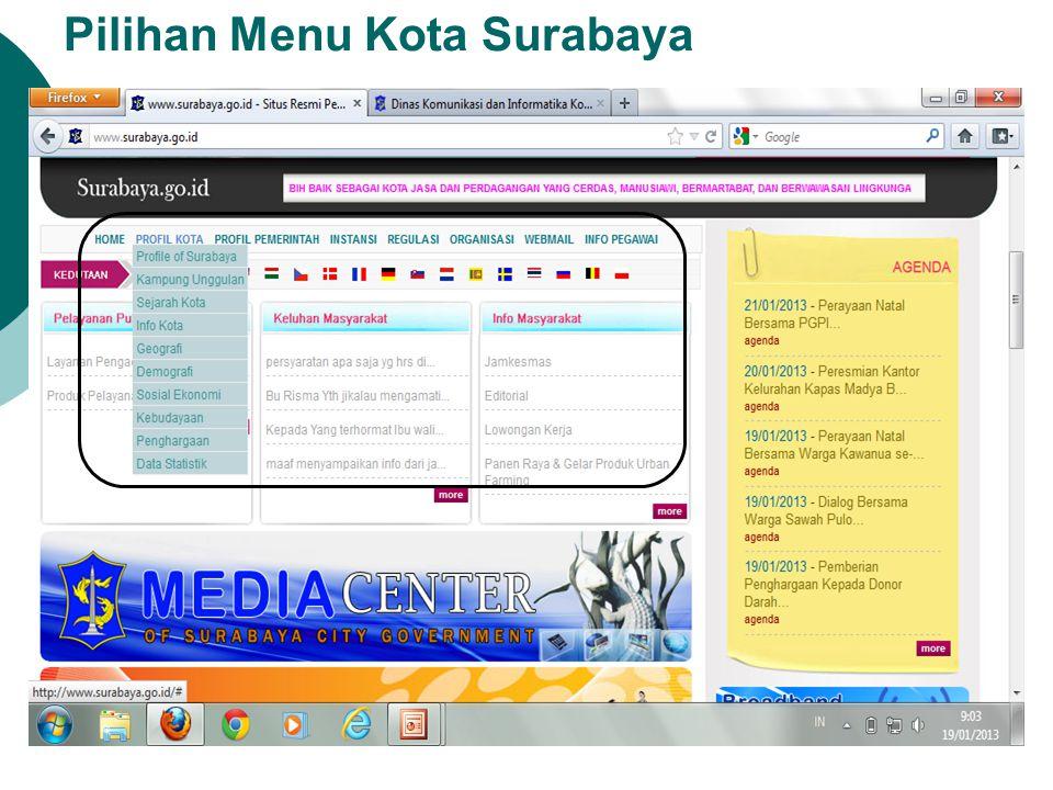 Pilihan Menu Kota Surabaya