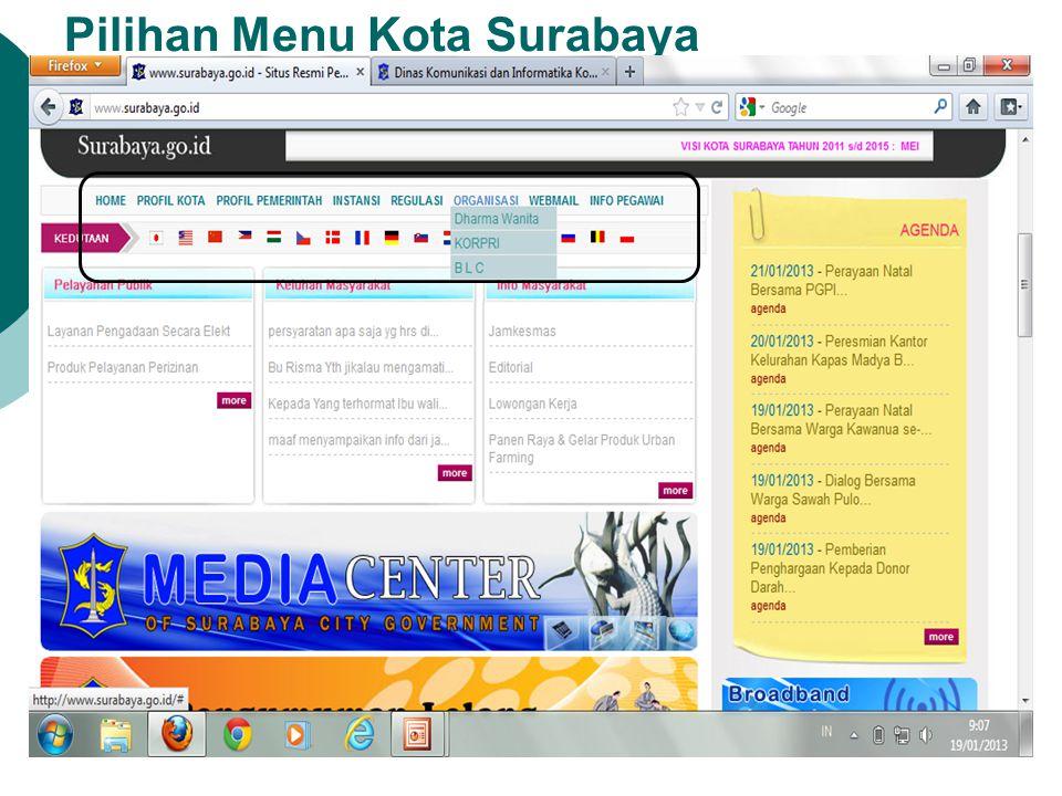 Agenda kegiatan Yang Terdapat Pada Website Ini