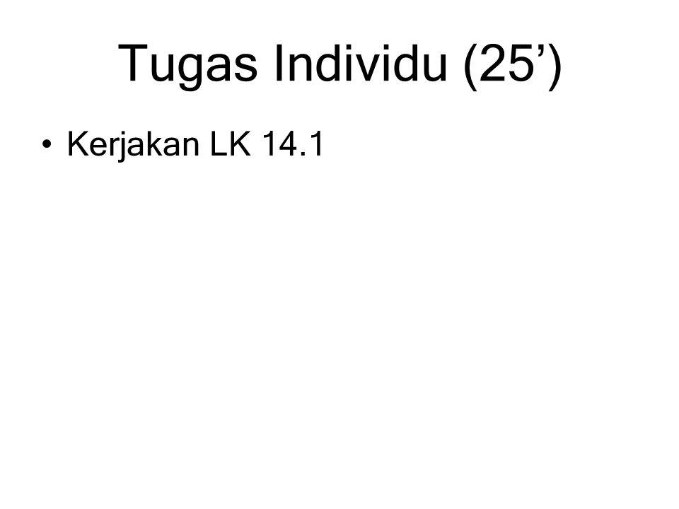Tugas Individu (25') Kerjakan LK 14.1